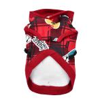 Czerwona bluza dla psa z szelkami od Puppia