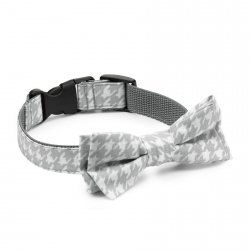Bow tie CLASSIC gray chequered pattern