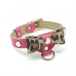 Luxurious PRESTIGE collar pink for small dogs