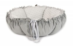 DAISY double-sided bed gray minky
