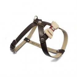 Leather harness Prestige brown