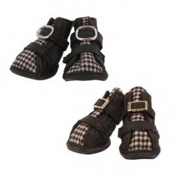 Buty ochronne dla psa HOUNDSTOOTH brązowe