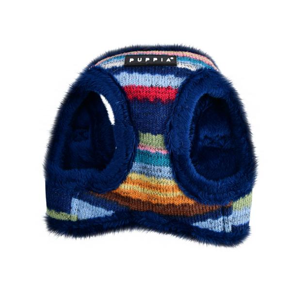 ocieplane szelki - kamizelka dla psa w etniczne wzory od Puppia