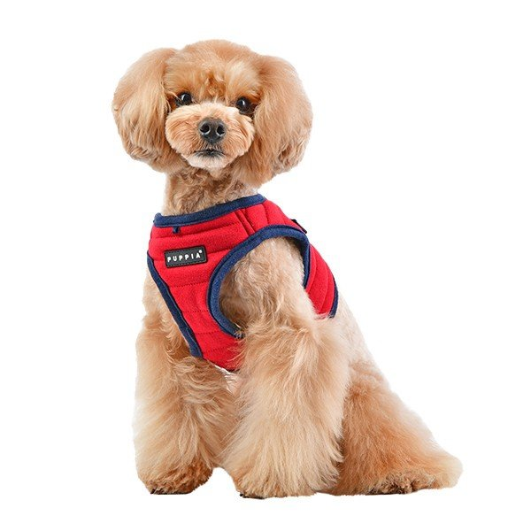 Sportowe szelki - kamizelka MISCHIEF czerwone od Puppia