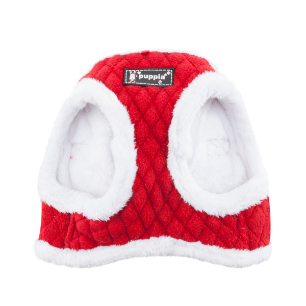 Świąteczne, ocieplane szelki - kamizelka w kolorze czerwonym od Puppia