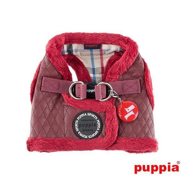 ocieplane, czerwone szelki - kamizelka od Puppia