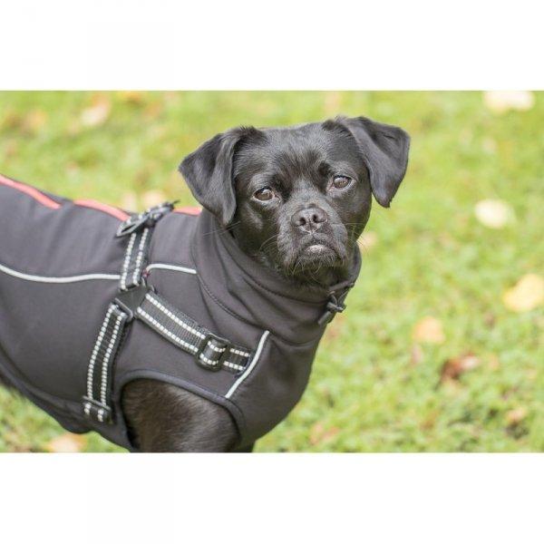 Zimowa kurtka z szelkami CHARLIE czarna