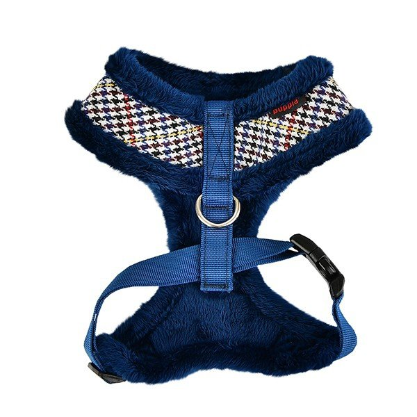 ocieplane szelki dla psa w kolorze niebieskim od Puppia
