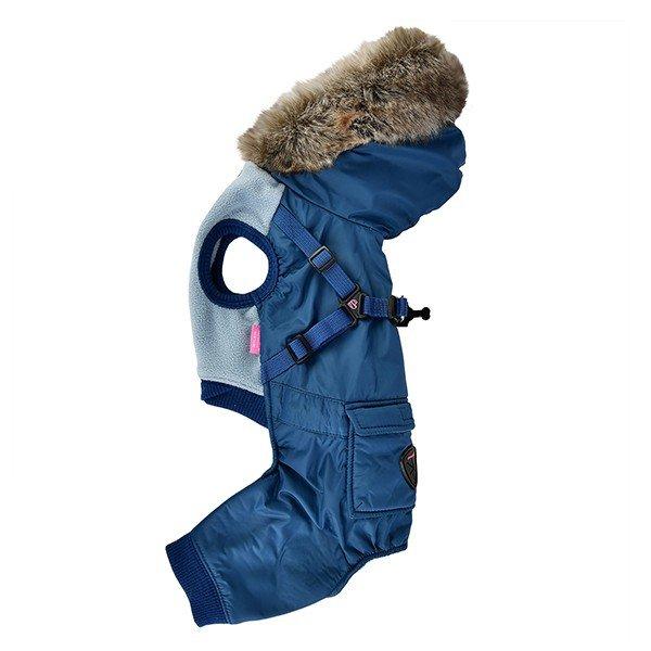 Zimowy kombinezon dla psa ADDIE - niebieski Pinkaholic
