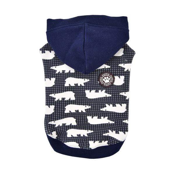 Bluza z kapturem niebieska we wzór w niedźwiedzie od Puppia