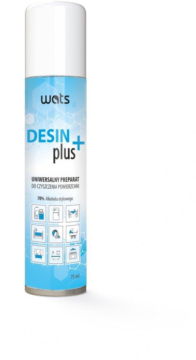 DesinPlus Uniwersalny Preparat do czyszczenia powierzchni w sprayu 70% alkoholu
