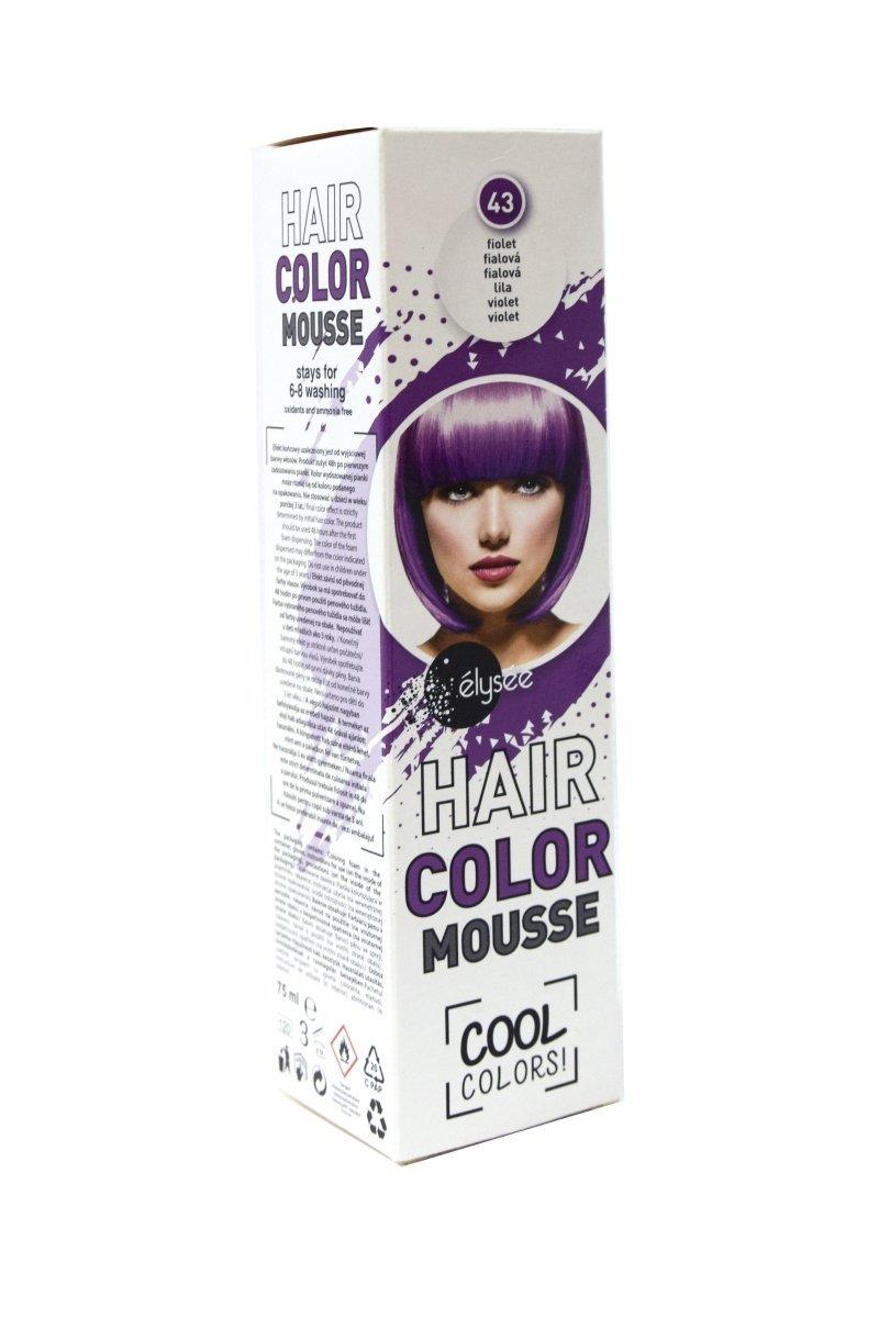 Elysee koloryzująca pianka do włosów 75 ml. Kolor fioletowy. Nr 43.