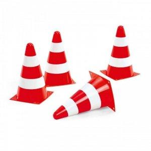 Rolly Toys Pachołki drogowe Zestaw 4 pachołków Ostrzegawczych