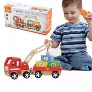Drewniany Dźwig z kontenerami Viga Toys