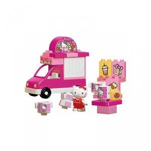 BIG Bloxx Klocki Hello Kitty Samochód Lodziarnia + figurka (26 el.)