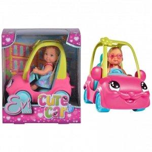 SIMBA Lalka Evi w zabawnym autku