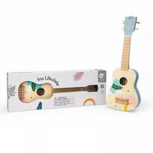 CLASSIC WORLD Drewniane Ukulele Gitara dla Dzieci Niebieskie