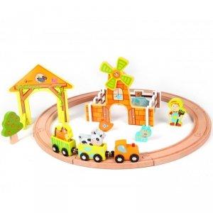 Kolejka Dla Dzieci Drewniana Zestaw Farma Classic World