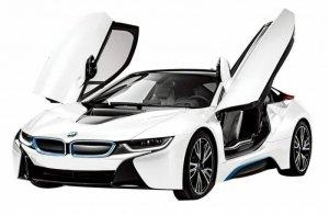 BMW i8 1:14 RTR (zasilanie na baterie AA) - Biały