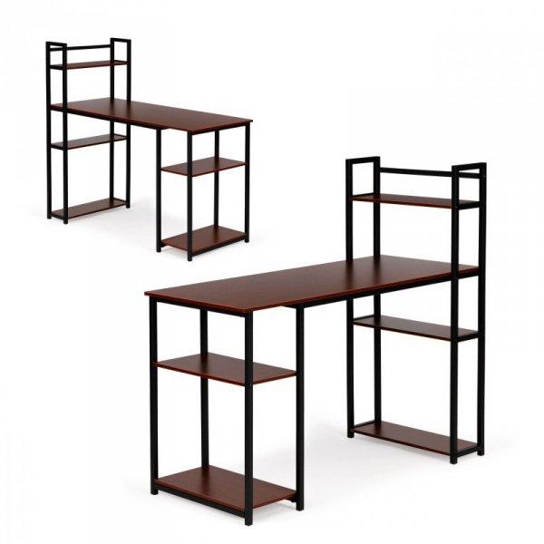 Biurko komputerowe stół regał półki loft dąb