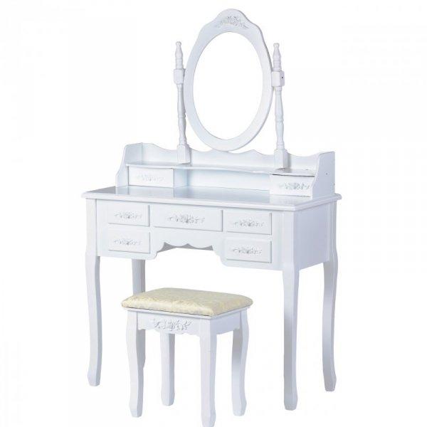 Toaletka kosmetyczna z dużym lustrem
