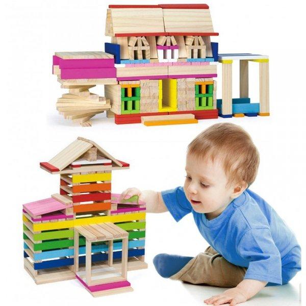 Viga Drewniane Klocki konstrukcyjne Budynki