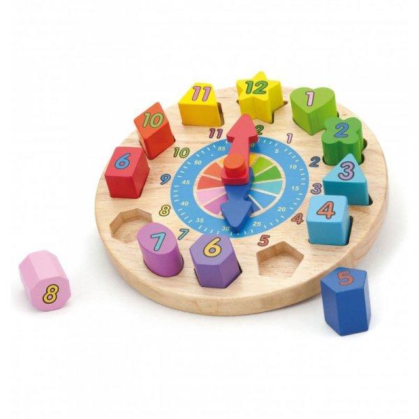 Edukacyjny Zegar z sorterem Viga
