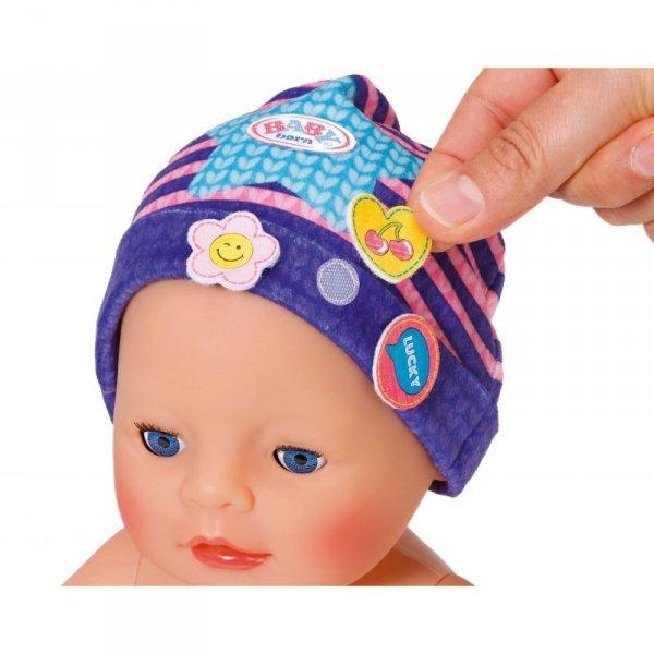 Baby Born Czapeczka z przypinkami dla lalki 43 w kolorze fioletowym