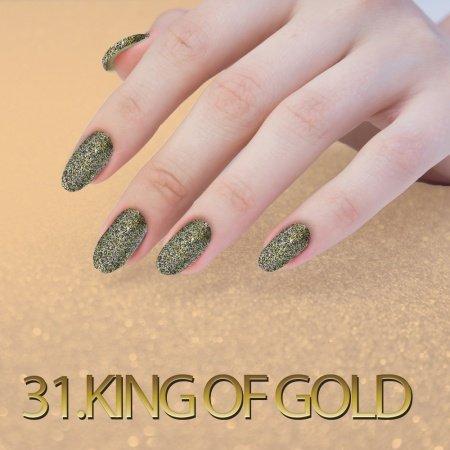 31.Sequin Quartz Effect - King of Gold