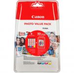 Canon oryginalny ink / tusz 0386C006, cmyk, Canon CLI-571 C/M/Y/BK + 50x PP-201, Canon PIXMA TS5051,53,55, TS6050,51,52, TS8051,52