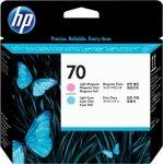 HP oryginalna głowica drukująca C9405A. No.70. light cyan/light magenta. HP Photosmart Pro B9180. Designjet Z2100. Z3100 C9405A