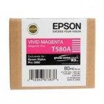 Epson oryginalny wkład atramentowy / tusz C13T580A00. vivid magenta. 80ml. Epson Stylus Pro 3800 C13T580A00