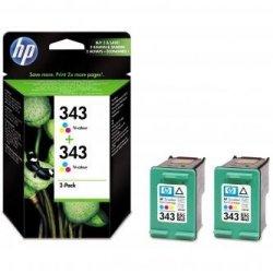 HP oryginalny wkład atramentowy / tusz CB332EE. No.343. color. 520 (2x260)s. 2x7ml. HP 2-Pack. C8766EE. PSC-1610. OJ-6210. DeskJet 6840