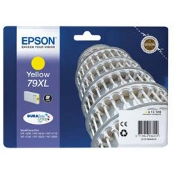 Epson oryginalny wkład atramentowy / tusz C13T79044010. 79XL. XL. yellow. 2000s. 17ml. 1szt. Epson WorkForce Pro WF-5620DWF. WF-5110DW. WF-5690DWF