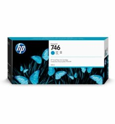 HP Tusz 746 300-ml Cyan Ink Cartridge
