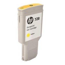 HP oryginalny wkład atramentowy / tusz F9K15A. No.728. yellow. 300ml. HP DesignJet T730. T830
