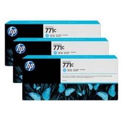HP oryginalny wkład atramentowy / tusz B6Y36A. No.771C. light cyan. 3szt. HP Designjet Z6200