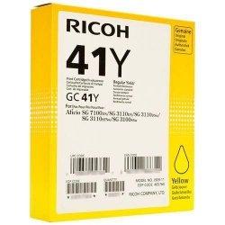 Ricoh oryginalny żelowe wypełnienie 405764. yellow. 2200s. GC41HY. Ricoh AFICIO SG 2100N