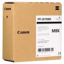 Canon oryginalny wkład atramentowy / tusz PFI307MB. matte black. 330ml. 9810B001. ploter iPF-830. 840. 850