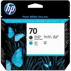 HP oryginalna głowica drukująca No 70 Printhead/matte black+cyaan C9404A