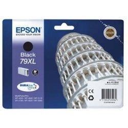 Epson oryginalny wkład atramentowy / tusz C13T79014010. 79XL. XL. black. 2600s. 42ml. 1szt. Epson WorkForce Pro WF-5620DWF. WF-5110DW. WF-5690DWF
