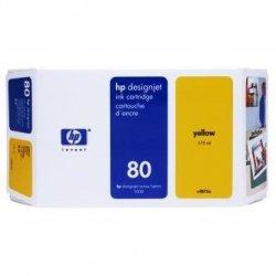 HP oryginalny wkład atramentowy / tusz C4873A. No.80. yellow. 175ml. HP DesignJet 1050. C. 1055. C. CM C4873A
