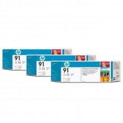 HP oryginalny wkład atramentowy / tusz C9482A. No.91. light grey. 775ml. 3szt. HP Designjet Z6100. Designjet Z6100ps C9482A