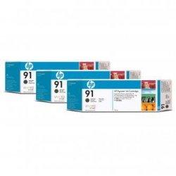 HP oryginalny wkład atramentowy / tusz C9480A. No.91. matte black. 775ml. 3szt. HP Designjet Z6100. Designjet Z6100ps C9480A