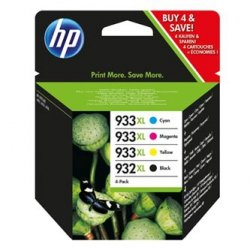 HP oryginalny wkład atramentowy / tusz blistr. C2P42AE#301. No.932XL/No.933XL. cyan/magenta/yellow/black. 825/1000s. 4szt. HP