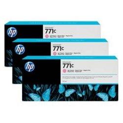 HP oryginalny wkład atramentowy / tusz B6Y35A. No.771C. light magenta. 3szt. HP Designjet Z6200