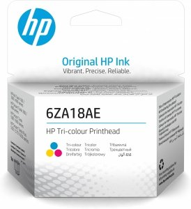 HP oryginalny głowica drukująca 6ZA18AE, Tri-color, HP Smart Tank 500, 515, 530, 615 AiO