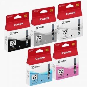 Canon oryginalny wkład atramentowy / tusz PGI72. PBK/GY/PM/PC/CO. 6403B007. Canon PIXMA Pro-10 6403B007
