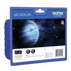 Brother oryginalny wkład atramentowy / tusz LC-1280XLBKBP2. black. 2x2400s. high capacity. Brother MFC-J6910DW LC1280XLBKBP2