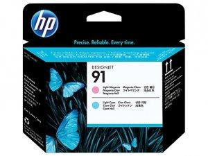 HP oryginalna głowica drukująca C9462A. No.91. light cyan/light magenta. HP DesignJet Z6100 C9462A